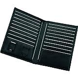 Alassio 42004 - Kreditkarten-Etui, aus hochwertigem Leder, ca. 15 x 11 x 1 cm ,schwarz