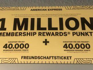 Achtung Aktion - American Express Gold Card Weiterempfehlung bringt Extrapunkte
